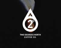 2 Degrees North Coffee Company Branding