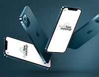 Floating iPhone 12 Pro Max Mockups by Boris Free Mockup