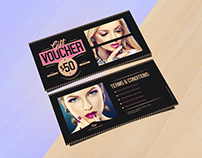 Free Fashion Gift Voucher Design Template & Mock-up PSD