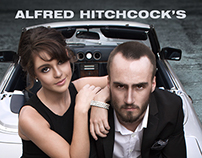 """Alfred Hitchcock's """"To Catch A Thief"""" Recreated Poster"""