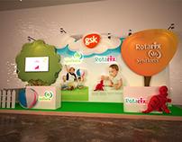 GSK rotarix & synflorix booth