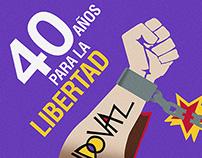 Poster para aniversario Librería Sandoval