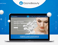 Ozone Beauty Website desing 2016