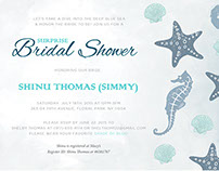 Sea-Themed Bridal Shower Invitations