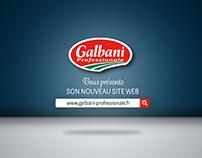 Video - Nouveau site internet Galbani Professionale