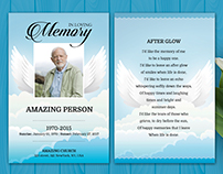 Funeral Card/Prayer Card Template