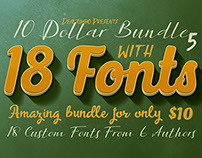 10 Dollar Bundle vol.5 – 18 Custom Fonts!