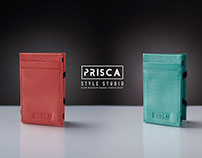 Prisca Style. Leather card holders.