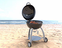 Beach Barbeque CGI for Rösle, Germany