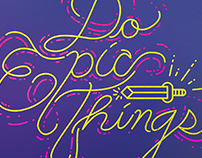 Neon Workplace Motivational Wall Art