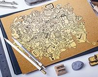 Robot in doodle