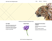 Violet Flower | Endangered Leopard | Web Design