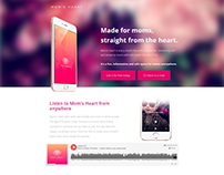 Mom's Heart App and Landing Page Design/Build