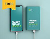 Free Power Bank Mockup Set