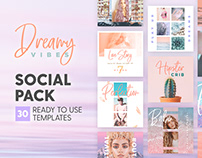 Dreamy Vibes - 4x4 Social Pack