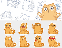 "Stikers ""cat Persik"" for vk.com"