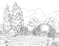 Landscape architecture sketches