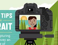 Canon Portrait Tips Infographic
