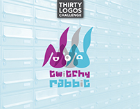 THIRTY LOGOS - DAY 3 - TWITCHY RABBIT
