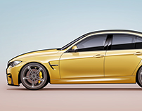 BMW M3 F80 Austin Yellow - 4K wallpaper