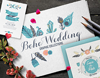 Boho Wedding Graphic Collection – Only $3