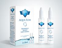 Aqua Slim Alkali Mineralli Su kutu ve etiket tasarımı