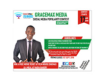 GraceMax Media Facebook Popularity Contest e-flier
