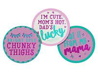 Pearhead Cute Saying Felt Belly Stickers