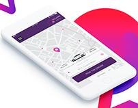 Taxi app UI/UX design
