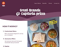 E-cafe promotional one page website.