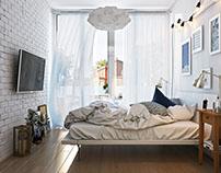 Modern Bedroom Interior Design by AcrhiCGI