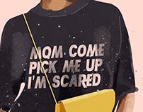 I'm scared* | illustration set