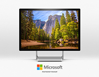 Microsoft Surface PSD Mockup