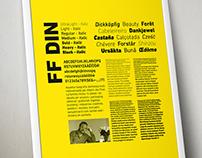 Poster: Espécimen FF DIN