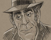 Abe Vigoda Caricature
