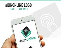 #DinOnline Logo Mockup