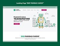 "Landing Page ""BNP PARIBAS CARDIF"""
