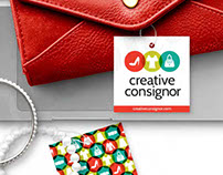 creative consignor logo and branding