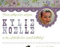 Stationery | Kylie's 2nd Birthday