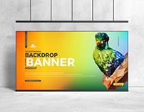 Free Backdrop Banner Mockup