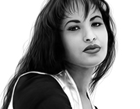 Selena Digital Painting