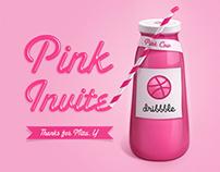 Dribbble Pink Invite