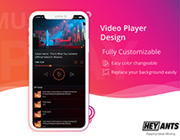Hey Ants Media Player Design Template