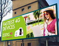 Banner Design | Fastest 4G Devices | Zong 4G