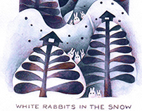 WHITE RABBITS IN THE SNOW