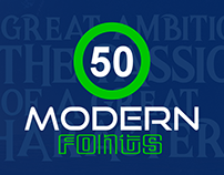50+ Trending Modern Fonts for Creative Designers