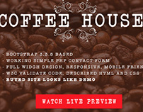 Coffee House Landing Page Template or Restaurant.