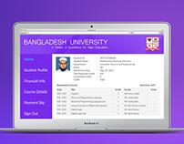 Student Online Portal interface Design