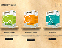 Food supplements logo & Packaging design branding & web