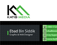 Modern Business Card Design For Katib Media